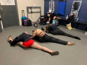 When preparing for a figure skating competition, make sure that you have time to warm up.
