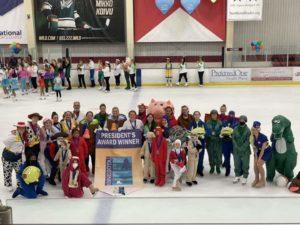 Stars of Austin Figure Skating Club won the President's Award at the 2020ne ISI Worlds